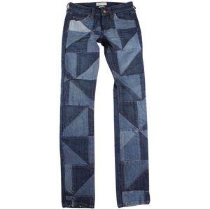 Isabel Marant Dillon Patchwork jeans sz 36